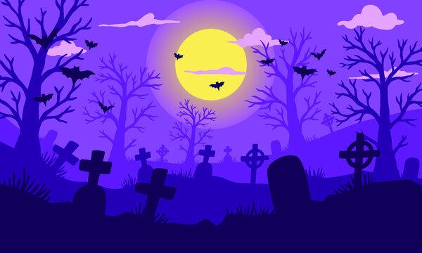 Happy halloween flat design background