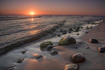 Fototapeta wschód słońca nad Morzem Bałtyckim obraz