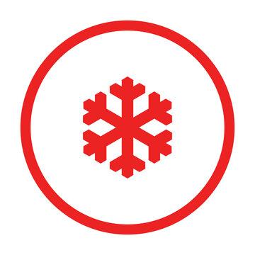 Schneeflocke und Kreis