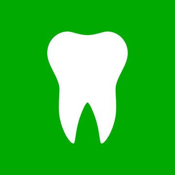Zahn und Hintergrund