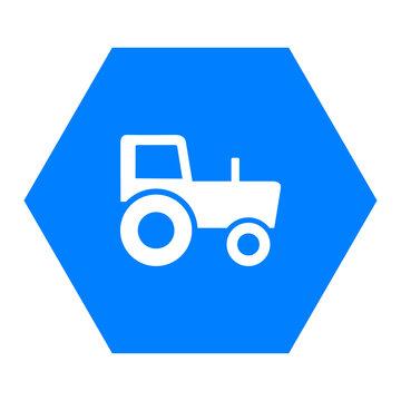 Traktor und Sechseck
