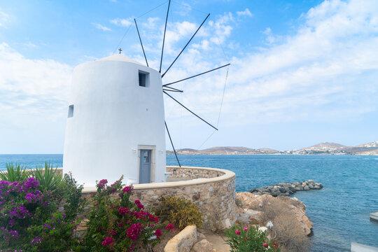 Windmill of Paros island