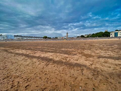 Exmouth beach in Devon