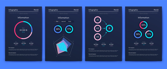 Vector graphics infographics with mobile phone. Template for creating mobile applications, workflow layout, diagram, banner, web design, business reports