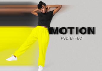 Fototapeta Woman Speed Motion Effect Add-On obraz