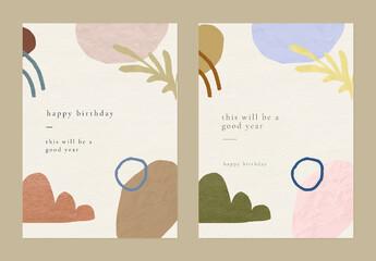 Fototapeta Birthday Greeting Template with Memphis Pattern obraz