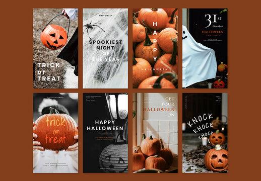 Halloween Editable Template Set for Social Stories