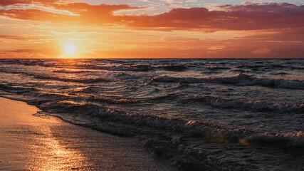 Fototapeta Zachód słońca nad Morzem Bałtyckim obraz