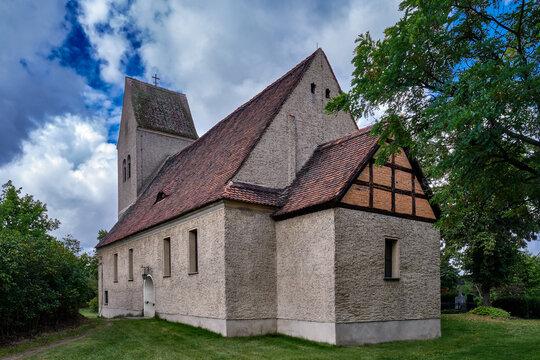 Denkmalgeschützte Dorfkirche Blankensee, Ansicht von Osten