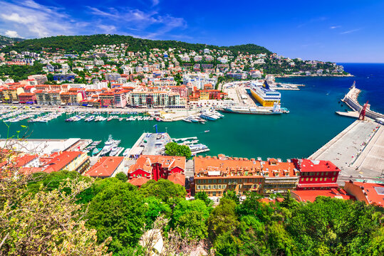 Nice, France - Summertime over Port Lympia