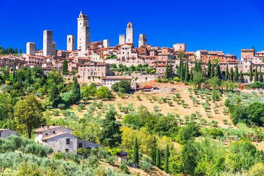 San Gimignano famous medieval town, Tuscany - Italy