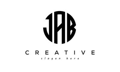 Obraz Letter JAB creative circle logo design vector - fototapety do salonu