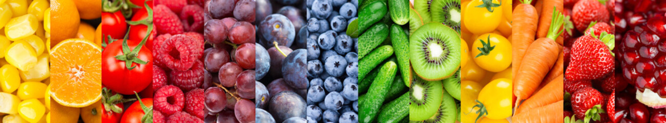 Background of fruits and vegetables. Fresh food. Healthy food