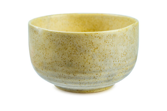 Ceramic bowl isolated on white background. clipping path.