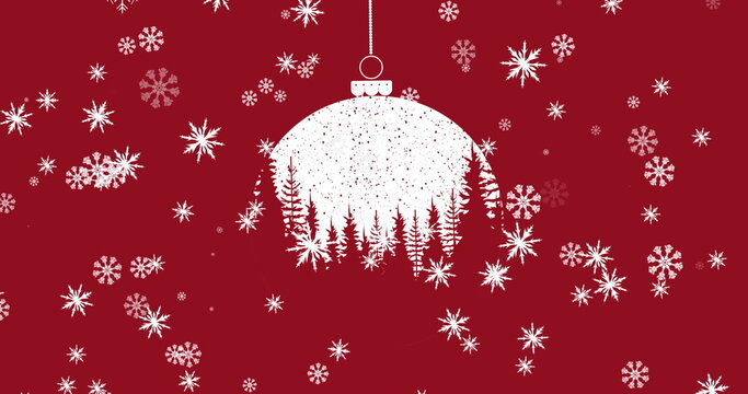 Image of christmas red and white bauble