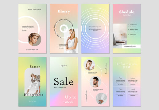 Modern Gradient Story Layouts for Social Media