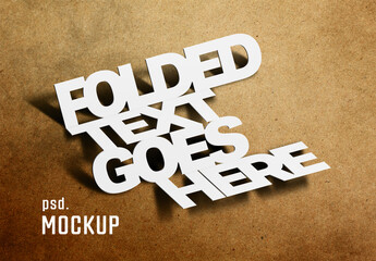 Fototapeta Folded Text Effect obraz