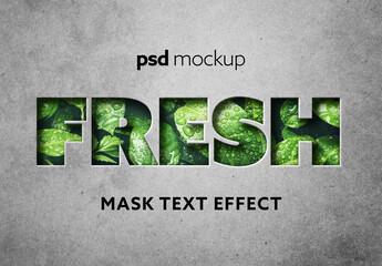 Fototapeta Mask Text Effect Mockup obraz