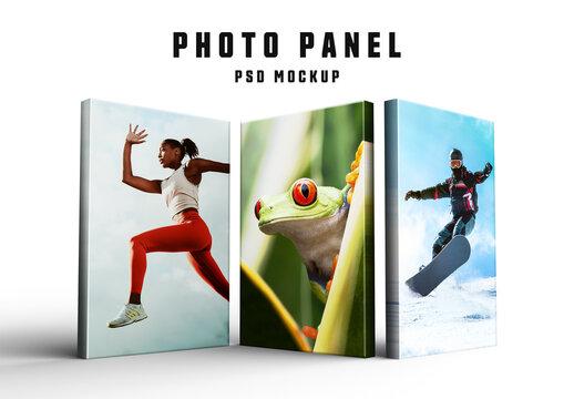 3D Photo Panels Mockup