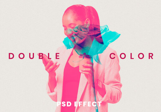Double Exposure Color Add-On in Anaglyph 3D Tone