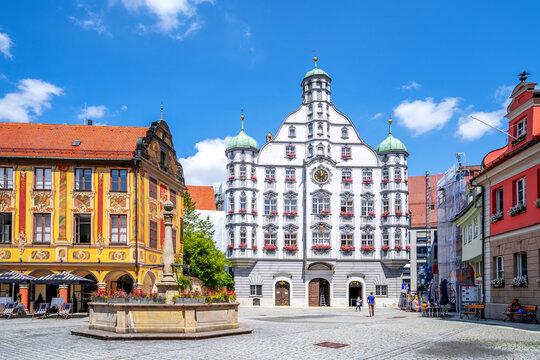 Rathaus und Marktplatz, Memmingen, Bayern, Deutschland