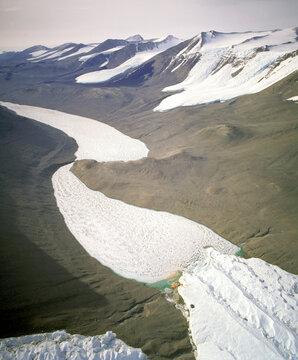 Taylor valley, Antarctica. One of the dry valleys, the dryest place on earth, it never rains.