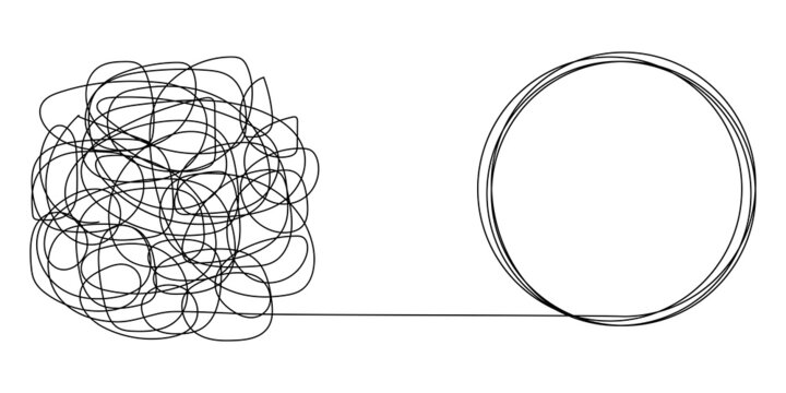 Tangled and unraveled tangles, problem solving process