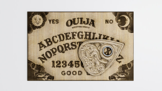 ouija table isolated on white background