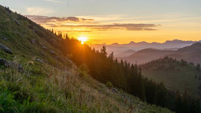 Sunrise on the Hochgrat (Alps, Germany)