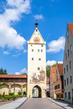 Unteres Tor, Mindelheim, Bayern, Deutschland