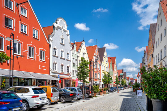 Altstadt, Mindelheim, Bayern, Deutschland