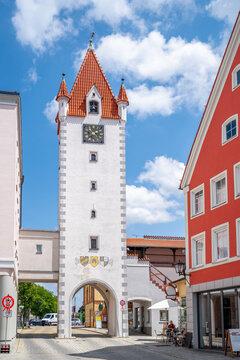 Stadttor, Mindelheim, Bayern, Deutschland