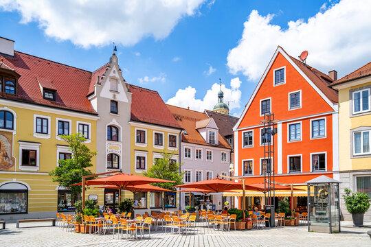 Marktplatz, Mindelheim, Bayern, Deutschland
