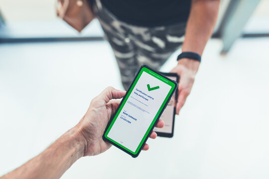 European Green Pass. International certificate of vaccination.