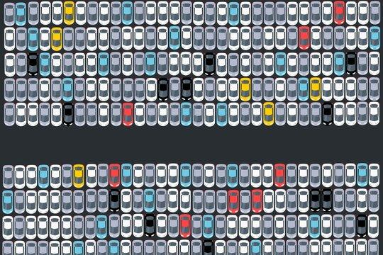 New cars logistics - car production parking