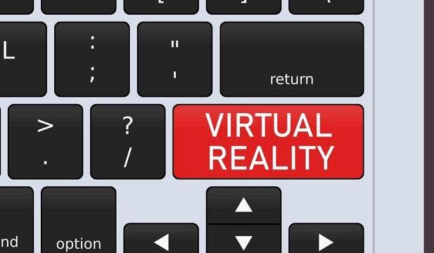 Virtual reality keyboard special key