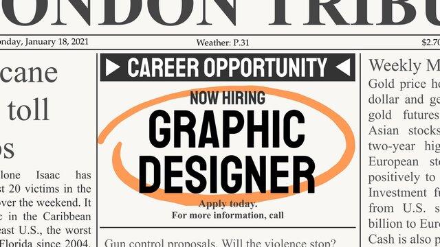 Graphic designer job offer