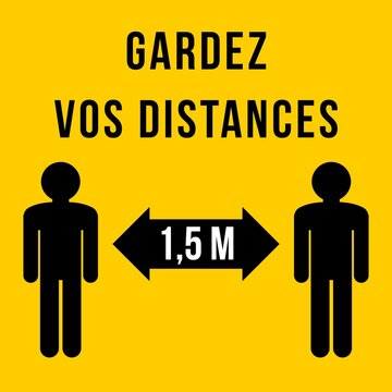 French language social distancing