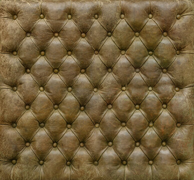 Quilted leather furniture upholstery