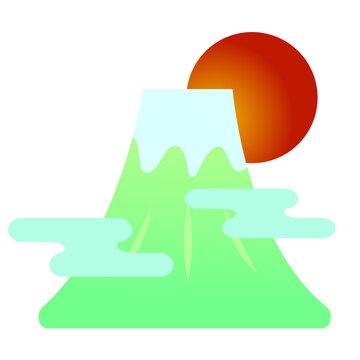 年賀素材:富士山