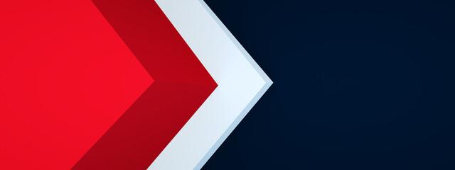 Fototapeta triangle arrow corner background overlap layer for design, 3d render, panoramic layout obraz
