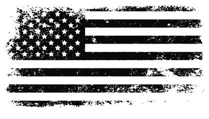 Fototapeta USA Flag. Distressed American flag with splash elements, flag of America, patriot, military flag obraz