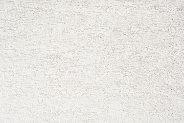 White rough plaster on wall