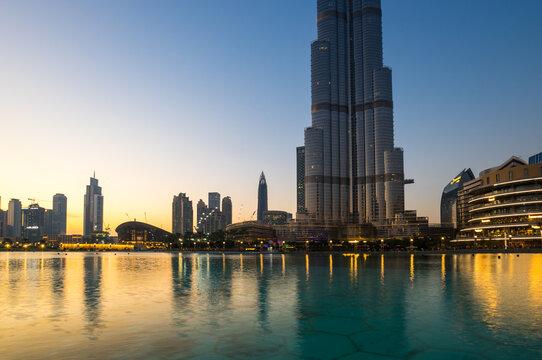 Modern buildings of Dubai
