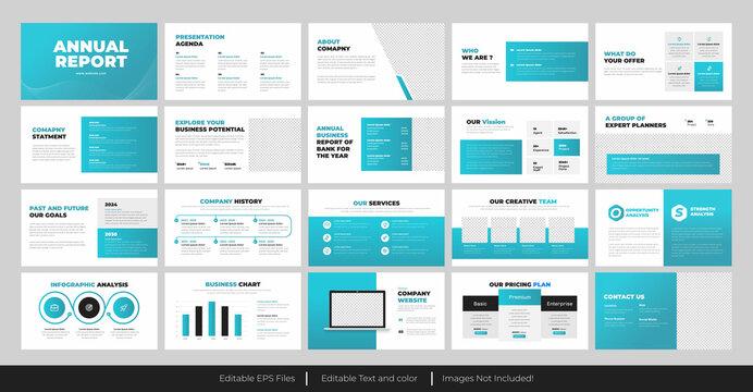 Annual Report presentation Slide design