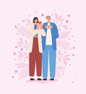 loving couple card