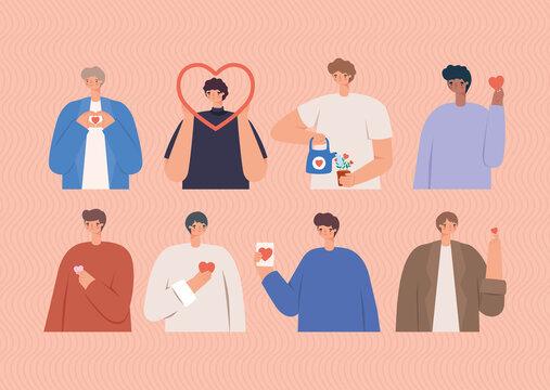 eight loving men