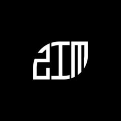 Fototapeta ZIM letter logo design on black background. ZIM creative initials letter logo concept. ZIM letter design.  obraz