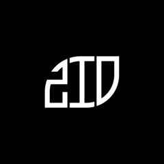 Fototapeta ZIO letter logo design on black background. ZIO c reative initials letter logo concept. ZIO letter design.  obraz