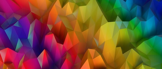 Mosaic triangular low poly style abstract geometric background